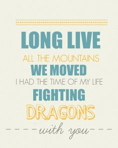 Taylor Swift Long Live  8x10 Lyric art print by gbloomstudio, $15.00