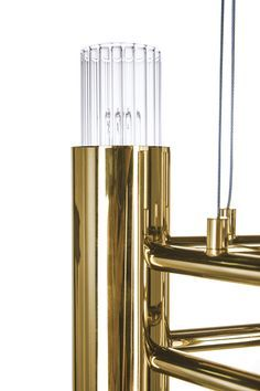Maison et Objet is a source of inspiration for professional networking and best place to know the newest products for interior design. Luxxu bring their Waterfall family, all made with gold plated brass combined with ribbed fine tubes of crystal glass.