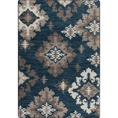 Shop Milliken Mix and Mingle Blue Tufted Runner (Common: 2-ft x 8-ft; Actual: 2.083-ft x 7.666-ft) at Lowes.com