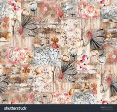 Elephant Tapestry, Floral Texture, Background Patterns, Textured Background, Floral Watercolor, Royalty Free Stock Photos, Beautiful, Abstract, Illustration