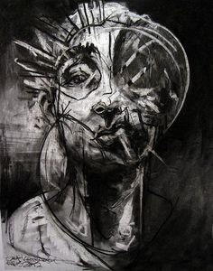 """Artist Joseph Loughborough gives us insight about his first U. solo show Deciphering the Ash of Effigies"""" at Anno Domini Gallery in San José. Illustrations, Illustration Art, Art Folder, A Level Art, Portrait Art, Portraits, Elements Of Art, Artists Like, Dark Art"""