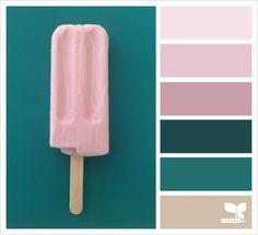Jul 2018 - A collection of inspiration images featuring the 2017 color trend, Pantone 'Shaded Spruce'. See more ideas about Pantone, Color and Teal living rooms. Colour Pallette, Colour Schemes, Color Combos, Pink Palette, Pop Design, Design Color, Bath Design, Flora Design, Light Design