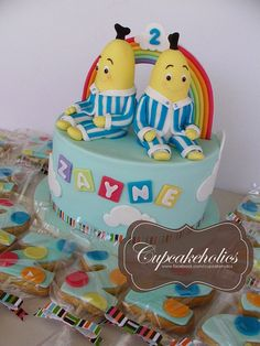 Bananas in Pyjamas cake with matching Cookie Pops - we love!