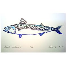 fish linocut by Peter Gander Arts