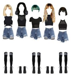 Electric Heart MV dance scene(s) by promise-official on Polyvore featuring polyvore, H&M, Posh Girl, Boohoo, Topshop, STELLA McCARTNEY, Bitching & Junkfood, fashion, style and clothing
