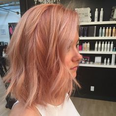 Bob Haarfarbe Ideen - All For Hair Cutes Cabelo Rose Gold, Hair Day, Blorange Hair, Gorgeous Hair, Beautiful, Pretty Hairstyles, Hairstyles 2016, Funky Hairstyles, Formal Hairstyles
