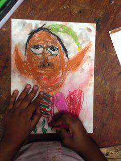 Christmas self portraits 2nd grade