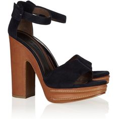 Marni Leather and suede sandals ($246) ❤ liked on Polyvore