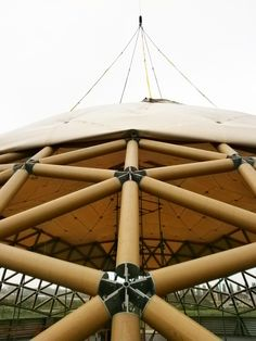 Cardboard tube geodesic structure