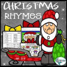 Christmas Rhymes Worksheets/ Literacy Center Puzzles/ Game / Bonus Page Play Scripts For Kids, Christmas Play Scripts, Christmas Activites, Christmas Puzzle, Christmas Gift Tags, Christmas Themes, Christmas Fun, Third Grade Reading, Second Grade