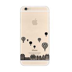Black Balloon City iPhone 6s 6 Plus SE 5s 5 Soft Clear Case