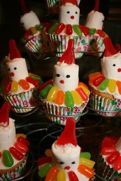 Carnival Party  Clown Cupcakes