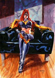Batgirl by Dan Brereton Batman DC Comics Comic Book Artists, Comic Book Characters, Comic Book Heroes, Comic Artist, Comic Character, Comic Books Art, Batman Comic Art, Dc Heroes, Batwoman