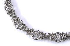 Steel ripple chain maille bracelet от TralalaLTD на Etsy