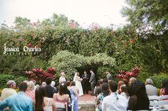 Garden wedding at the Sunken Gardens in St. Petersburg, FL.  Jessica Charles Photography, a Tampa Bay Wedding Photographer