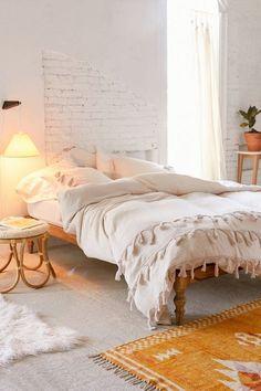 Boho Duvet Cover, Duvet Cover Sets, Ivory Duvet Cover, Comforter Cover, Duvet Covers Urban Outfitters, Urban Outfitters Bedroom, Interior Desing, Bohemian Bedroom Decor, Bohemian Bedding