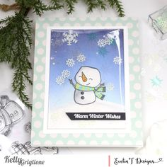We create stamps for the crafter in YOU!: Good Tidings to You Frameless Shaker Snowman Card Snowman Cards, Big Hugs, Shaker Cards, Cool Cards, Clear Stamps, Stay Warm, Nest, Thankful, Snowmen