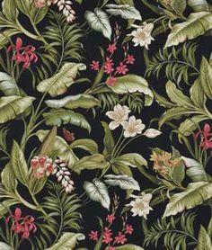 Waverly Wailea Coast Sun N Shade Ebony Fabric