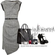 Already accessorized for us:) Chic and wouldn't you be an amazing picture the day you wore this to the office:)