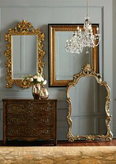 Design with Brilliance- Elaborately carved mirrors, lavishly sized on a grand scale create a striking presence while making your space feel even larger.