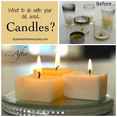 What to do with your old, used candles?....