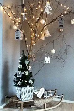 Kerstboom slee idee
