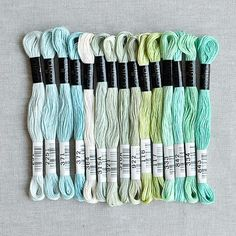 Cosmo : Embroidery Floss Palette : Atlantic : 15 pcs : the workroom