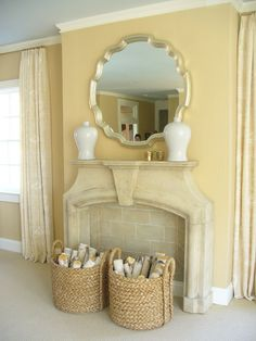 faux fireplace great for the bedroom