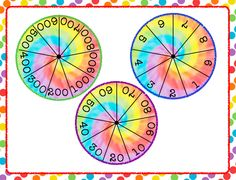 Spin the spinners to create a number in expanded Form  $