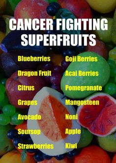 CANCER FIGHTING SUPERFRUITS: Blueberries, Dragon Fruit, Citrus, Grapes, Avocado, Soursop, Strawberries, Goji Berries, Acai Berries, Pomegranate, Mangosteen, Noni, Apple, Kiwi. Learn about the cancer fighting qualities of alkaline rich Kangen Water. It neutralizes free radicals that cause oxidative stress which can lead to disease such as cancer. Change your water, change your life.