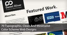70 Typographic, Clean And Minimalist Color Scheme Web Designs