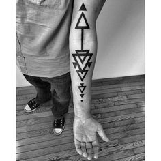 Black Triangles By Ben Volt #tattoo #ink