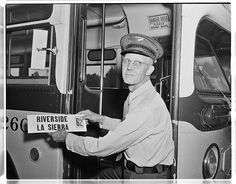 MCL No. 2603. Operator with Uniform and Hat Badge circa 1954.