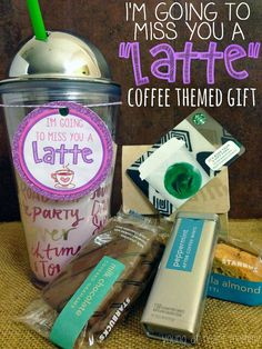 Coffee themed going away giftYou can find Going away gifts and more on our website.Coffee themed going away gift Going Away Presents, Going Away Parties, Leaving Gifts, Diy Food Gifts, Homemade Gifts, Distance Gifts, Long Distance, Mason Jar Gifts, Retirement Gifts