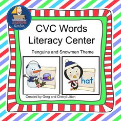 While working with this literacy center, students will practice blending onsets and rimes while matching the cvc word to the corresponding picture.  This literacy center includes 60 cvc word cards and 60 matching picture cards, as well as 60 word cards and 60 picture cards for pre teaching the words that are used in the literacy center. Download the preview and receive 6 FREE cards so you can try it before you buy it. $3