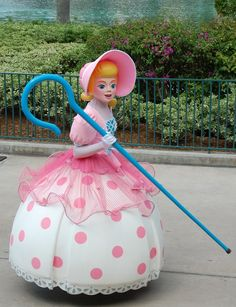 Disney World Retired Attractions - Little Bo Peep, from Toy Story,  in the Block Party Bash Parade at Disney's Hollywood Studios. This parade ran from March 14, 2008 – January 1, 2011.