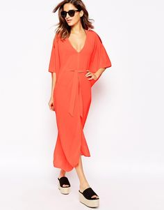 Shop L'Agent Holly Long Beach Cover Up at ASOS. Long Beach Cover Up, Beach Covers, Agent Provocateur, Fashion Online, Duster Coat, Wrap Dress, Asos, Adventure, Jackets