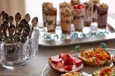 Brunch - mini parfaits or yogurt parfait bar & bagel bar