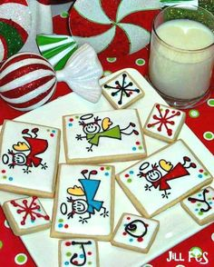 Christmas Angels cookies by Jill FCS