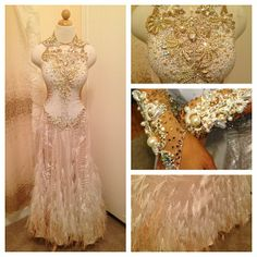For #sale!!! Beautiful backless smooth gown size xs/s includes large pearl earrings and decorative hand gloves! #ball...