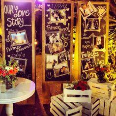 Idea increíble para tu boda!!! Comparte con tus invitados tu historia de amor...