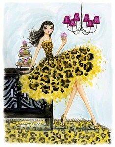 leopard cupcake, bella pilar