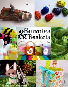 A Handmade Easter - Adorable Bunnies, Baskets and Baby Chick in this Etsy Round Up