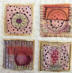 Art Retreat Workshops and Art Festival by Art and Soul Retreat - Libby Williamson Fiber Art Quilts, Tea Bag Art, Art Festival, Knitted Blankets, Fabric Art, Textile Art, Embroidery Stitches, Jewelry Crafts, Paper Art