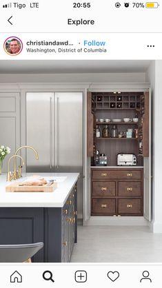 Home Decor Kitchen – All Home Decoration Ideas Home Decor Kitchen, Country Kitchen, Home Kitchens, Kitchen Grey, Ideas Geniales, New Kitchen Cabinets, Open Plan Kitchen, Kitchen Layout, Cuisines Design