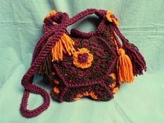 Häkeltasche  Herbstlaub Granny-Square von Maschenpunk auf DaWanda.com