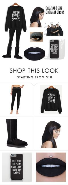 """""""Imagine Dragons Outfit"""" by teenwolfmusic ❤ liked on Polyvore featuring Burton, WithChic, UGG and Donna Bella Designs"""