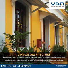 Have you visited #Pondichéry or #Puducherry, India?  The seaside city's buildings showcase the beauty of French Colonial & Franco-Tamil architecture. This makes it a delight for architecture lovers.  #VGN #KnowYour #Vintage #Architecture #Pondicherry