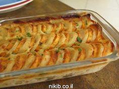 תפוחי אדמה ובטטות מוקרמים Cheesecake Recipes, Dessert Recipes, Desserts, Israeli Food, Yams, Thanksgiving Table, Macaroni And Cheese, Side Dishes, Recipies