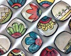 Resultado de imagen para bachas de baño  en ceramica pintadas a mano artesanales
